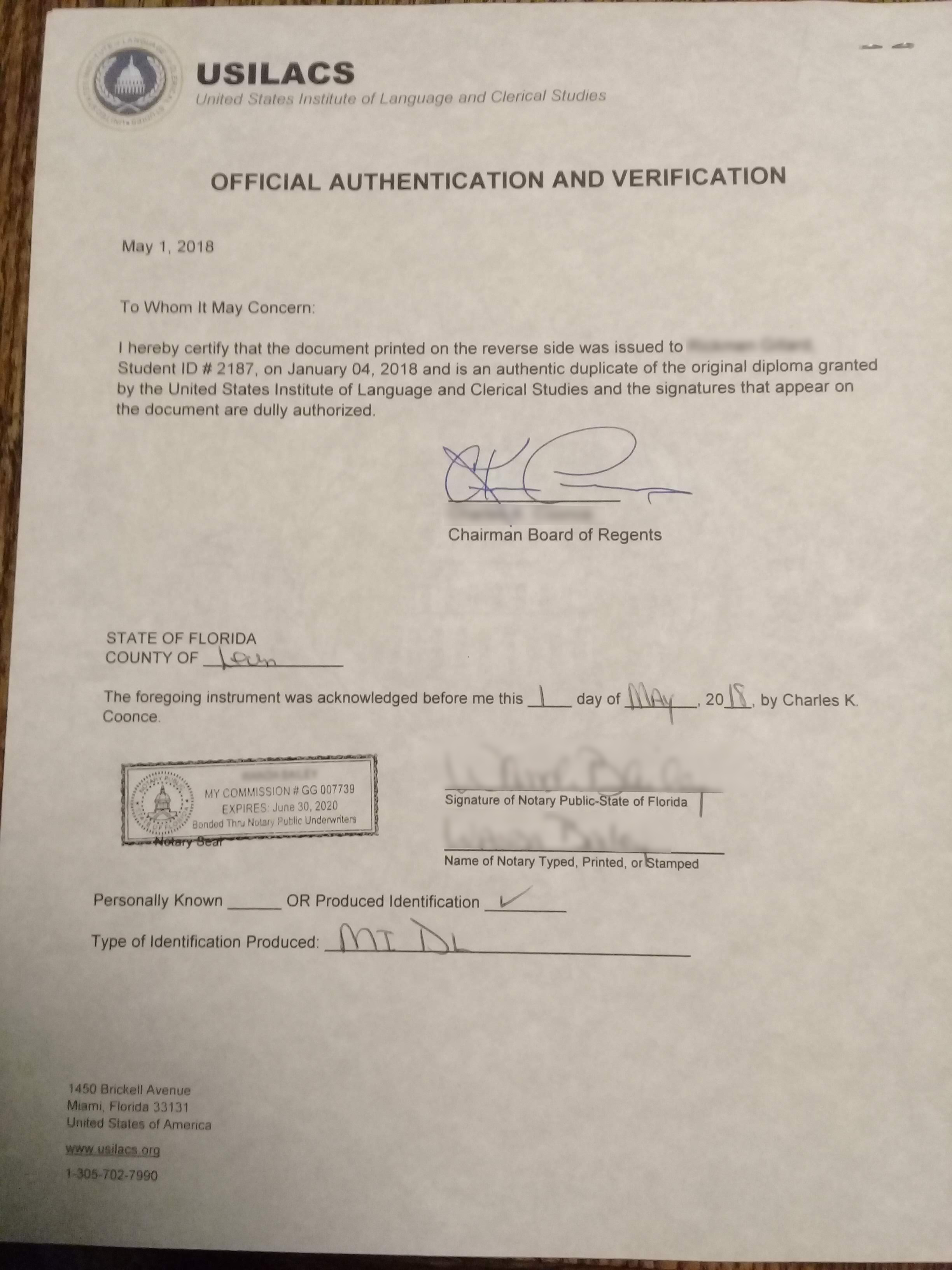 State Apostille Or Authentication Service Usilacs